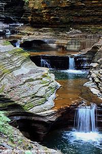 Calm tumbling falls, Watkins Glen State Park, NY