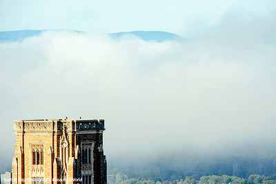 Cornell University - Mist covered hills, NY