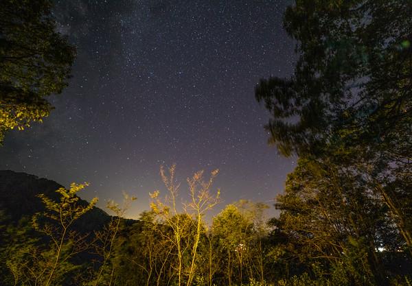Milky Way Galaxy and night stars, Skyland Resort, Shenandoah National Park, Virginia
