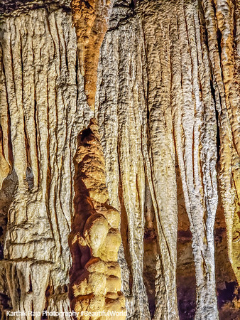 Almost there, Just a few thousand years more to touch. Luray Caverns, Virginia