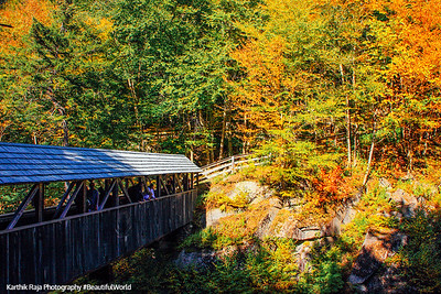 Lincoln-Flume covered bridge, Franconia Notch State Park, NH