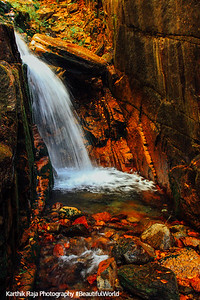 Franconia Notch State Park waterfalls, NH