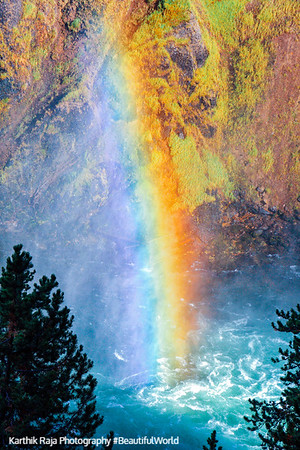 Rainbow at the Upper Falls - Yellowstone National Park