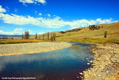 Lamar River, Lamar Valley - Yellowstone National Park