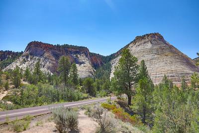 Checkerboard Mesa, Zion National Park, Utah, Highway 9  -Zion Mt Carmel Highway