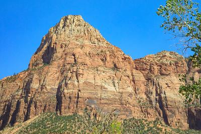 Angels Landing, Zion National Park, Utah, Highway 9 - Zion Mt Carmel Highway