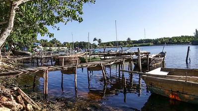 Fischerhafen in Playa Larga