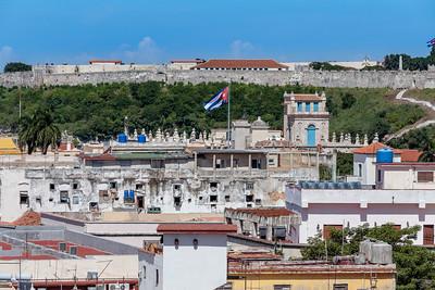 , from above, Camara obscura at Plaza Vieja