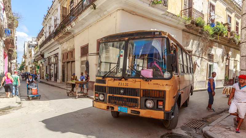 bus, Habana Vieja