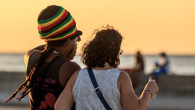 Malecón evening, sundown, people
