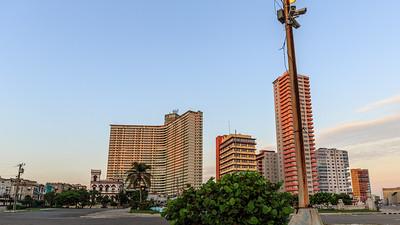 Malecón, high buildings