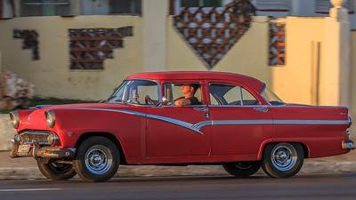 1955 Ford Fairlane Crown Victoria on the Malécon