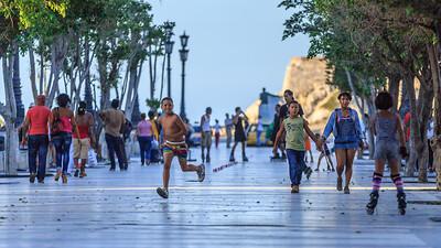 Paseo del Prado/de Martí, people