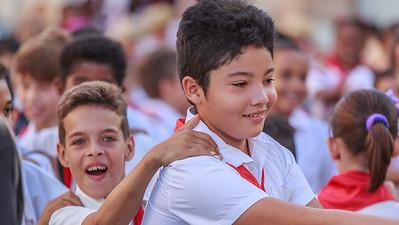 escuela primaria Juan A. Triana, school kids, School festivity