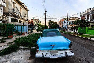 Vedado, Havana, car, plymouth belvedere convertible 1956