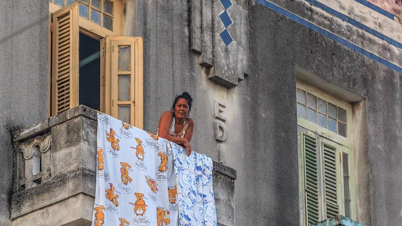 Vedado (Havanna) am Morgen, people