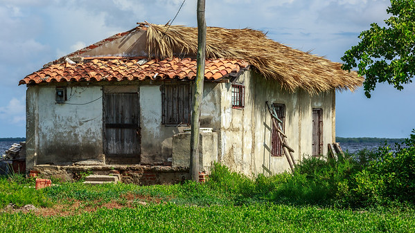 hot and beaten by hurricanes: Beach of La Coloma, south-western coast of Cuba