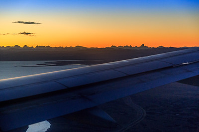 View of the Andes approaching El Calafate