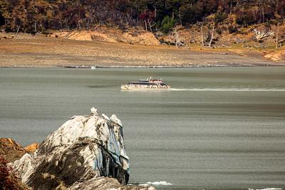 Ausflugsschiff am Südarm des Lago Argentino