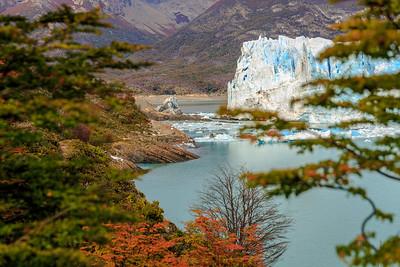 Die Verbindung zwischen Süd- und Norarm des Lago Argentino ist schon sehr schmal