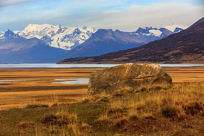 Landschaft mit Blick auf das Massiv des Perito Moreno