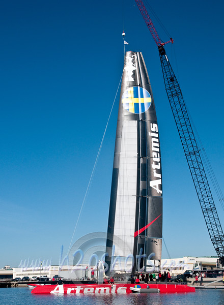 Artemis 72 Launch an Christening