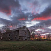 Fire in the sky over an old barn near Atkinson, IL