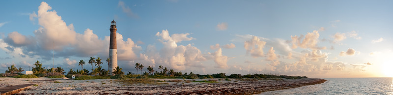 Panoramic view of Loggerhead Key in the early morning light