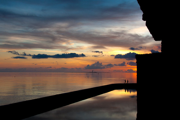 A quiet sunset at Fort Jefferson, Dry Tortugas, FL.