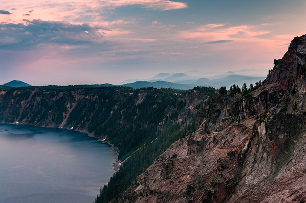 The southwest rim of the Caldera of Crater Lake
