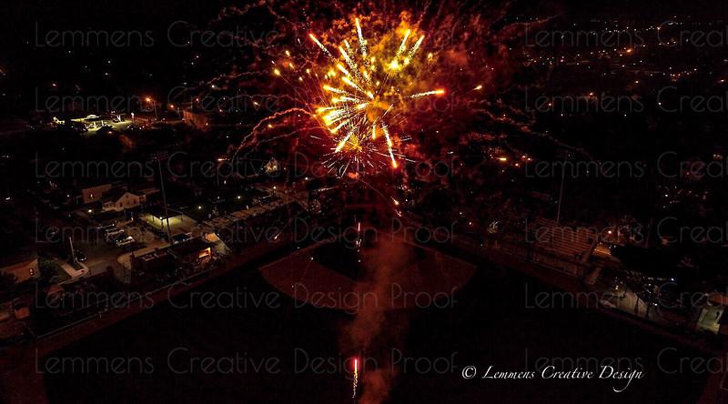 Fireworks and baseball