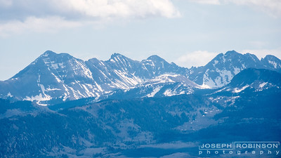 A view of the Rocky Mountains from Mesa Verde.