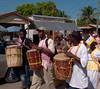 Garifuna drummers, Dangriga, Belize