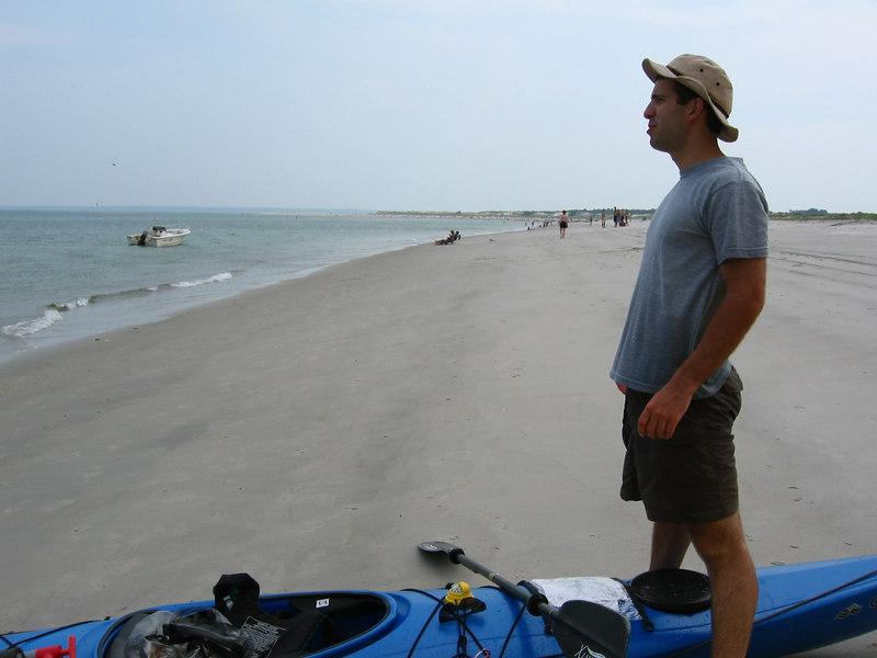 Mike and his kayak