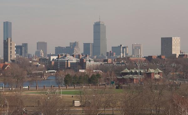 Boston views, from Mt Auburn Hospital