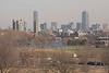 View of Boston, from Mt Auburn Hospital in Cambridge.