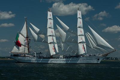 Portuguese ship Sagres, in Boston Harbor