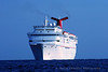 Cruise ship coming to port in Cozumel, Mexico