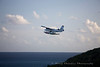 A seaplane takes to the sky in St. Thomas, USVI