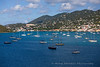 Sailboats in the harbor at St. Thomas, USVI