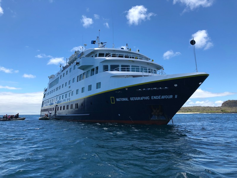 Boarding the NG Endeavour II at San Cristobal Island