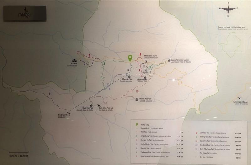 Mashpi Lodge trail map