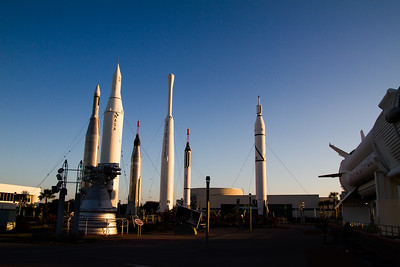 Rockets in Kennedy Space Center's rocket garden