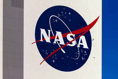 Logo on NASA's Vehicle Assembly Building