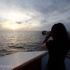 Taking sunset photos aboard the M/Y Letty