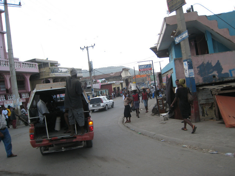 This is a very typical street in Cap Haitian
