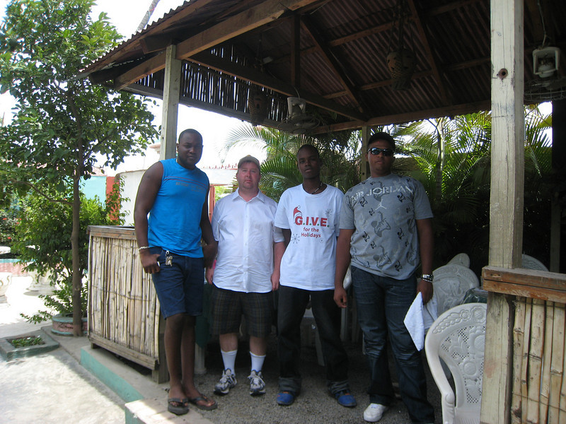 Haiti is not safe right now so I organized 2 guides. These are big guys with the right connections, local knowledge and speak creole.  Our intrepid Haiti exploration team.  L-R : Demel, me, Demel's cousin and Carlos.  Demel and his cousin are residents of Cap Hatian, Carlos is a policeman living in a Dominican border town.