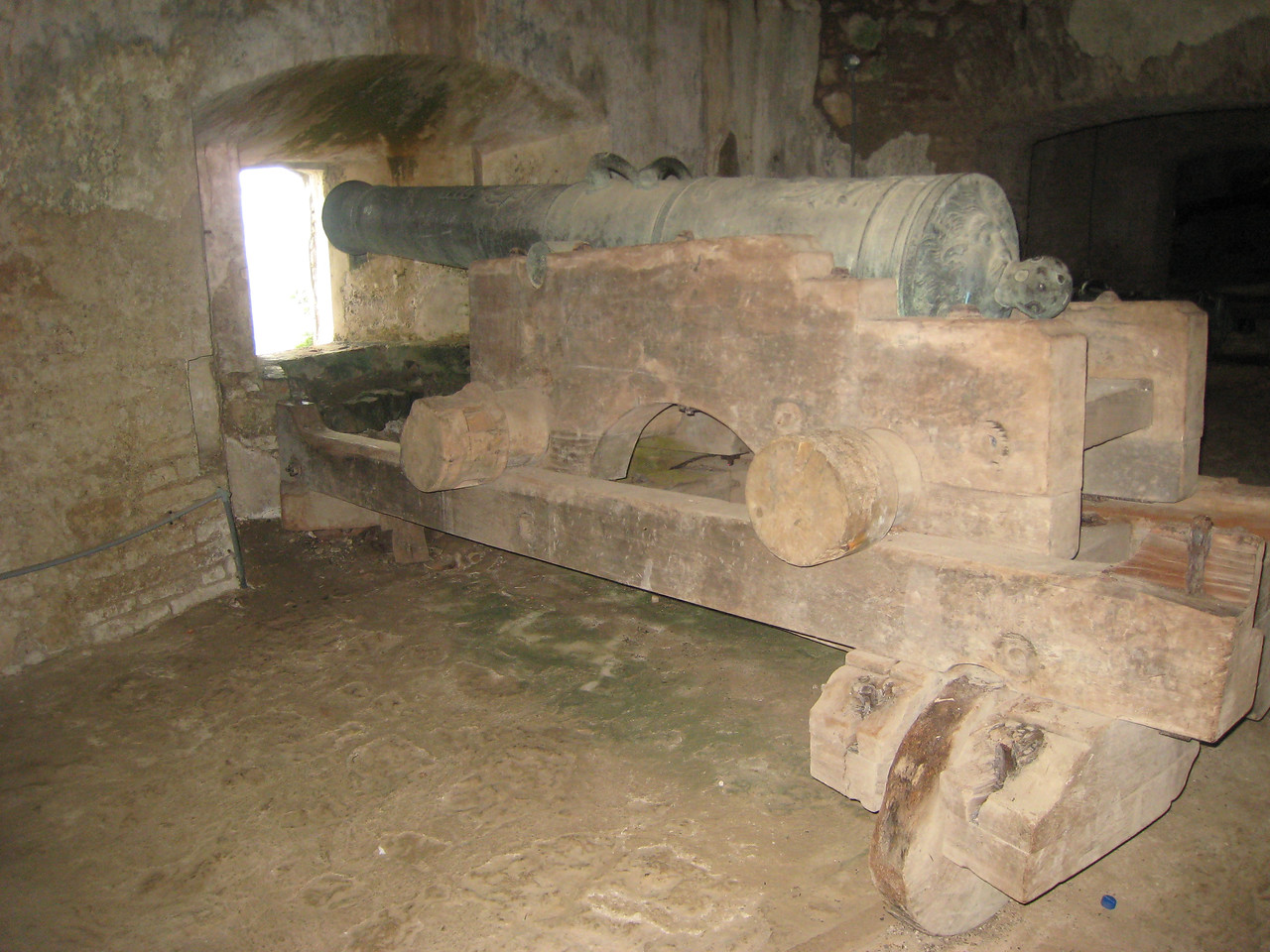 An original cannon, pointed to defend against the French to ensure Haiti maintained its independence