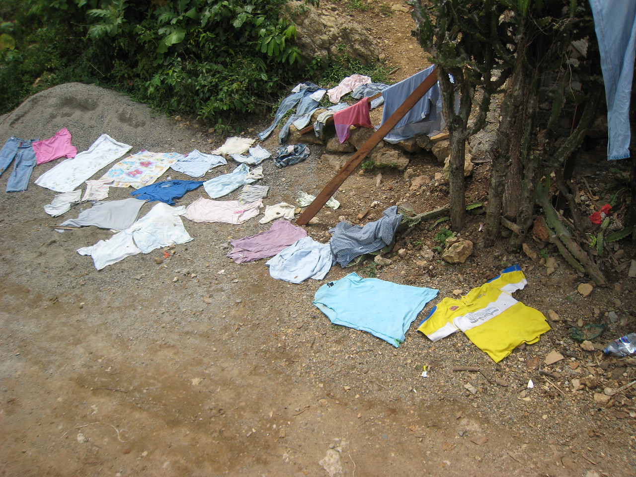 Many people live along the way to get to the castle - and for many people it was laundry day