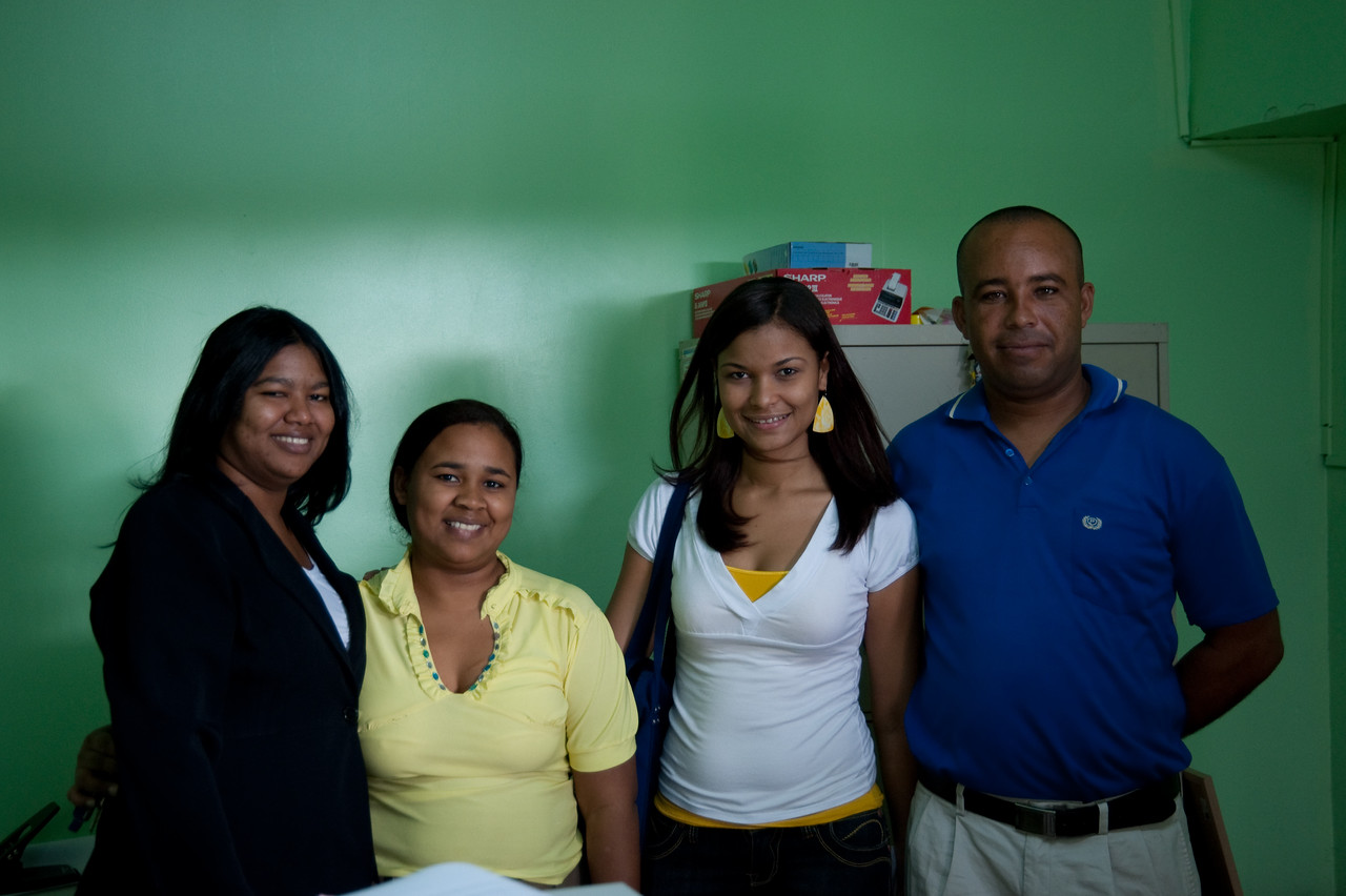 Part of the Esperanza team in Santo Domingo (which is the local partner in the Dominican Republic for Kiva.org)